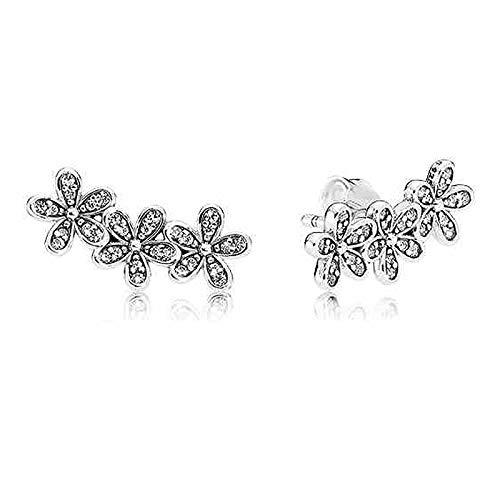 NIUBKLAS Pendiente de plata de ley 925 con diseño de árbol de amor y flecha con cristal para mujer joyería de moda 4