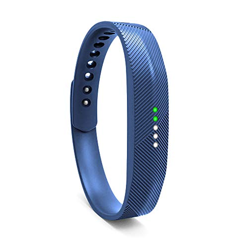 Wekin Replacement Wrist Band Compatible for Fitbit Flex 2, Soft Silicone Accessory Wristband Strap for Flex 2 Sports Classic Fitness Tracker (Small, Navy Blue)