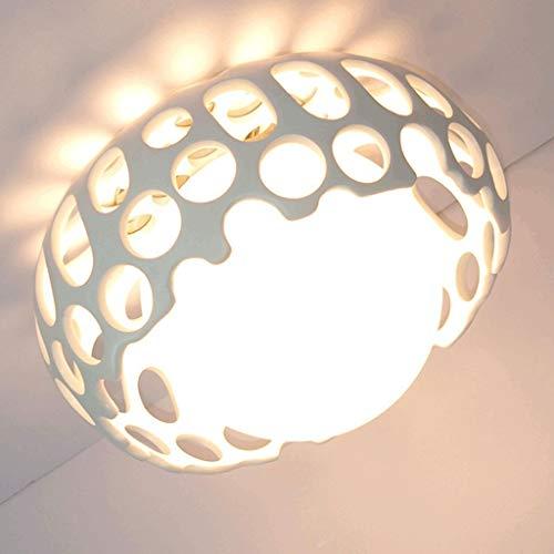 Duurzame plafondlampen eenvoudige moderne led-hars vogel nest plafond lamp, glas lampenkap, creatieve gang Aisle kamer woonkamer woonkamer plafond verlichting plafondlampen (kleur: wit), kleur: wit