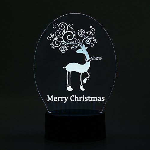 3D nachtlampje voor quads en kinderen, 7 kleuren veranderende optische illusie kinderlamp – perfect cadeau voor jongens, meisjes met Kerstmis, verjaardag of vakantie.