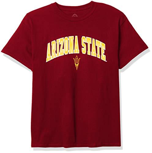 Elite Fan Shop NCAA Arizona State Sun Devils Mens T Shirt Team Color Arch, Arizona State Sun Devils Garnet, Small