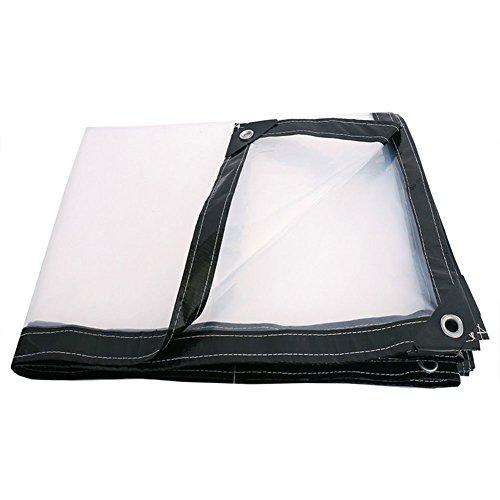 Dongyd Tissu en Plastique imperméable épais d'ombre d'usine de Balcon de bâche d'isolation imperméable (Couleur : Clair, Taille : 2x5m)