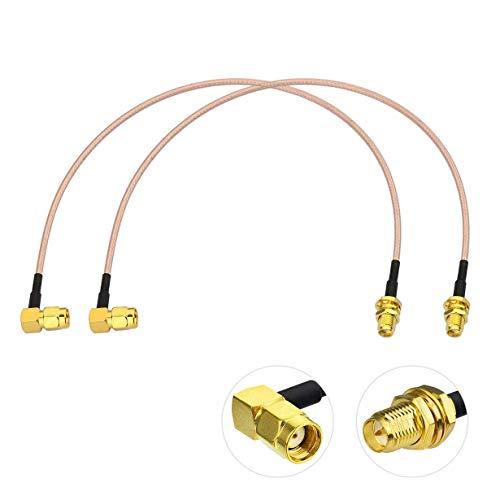 Bingfu WLAN Antennen Verlängerungskabel RP-SMA Stecker Rechtwinklig auf RP-SMA Buchse RG316 Kabel 30 cm für WiFi-Router-Sicherheit IP-Kamera-Monitor Mini-PCIE-Karte, 2 Stück