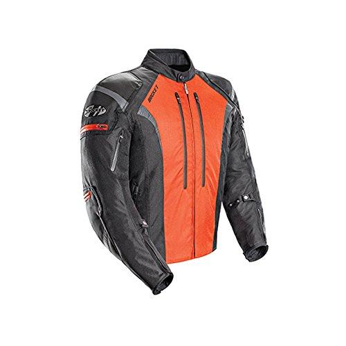 Joe Rocket Atomic 5.0 Men's Textile On-Road Motorcycle Jacket - Black/Orange/Large