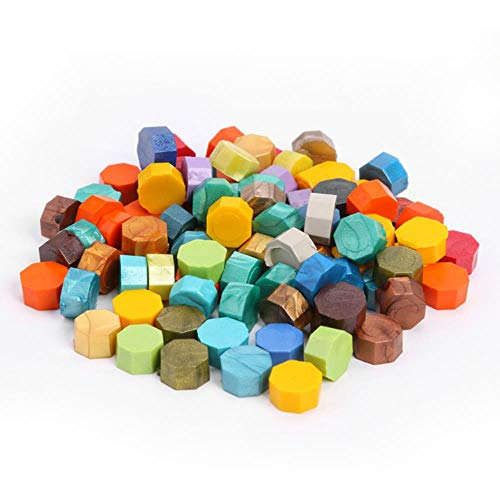 100 unids/lote Vintage Wax Seal Tablet Pill Beads para sellar sello Wax Bead Wedding Envelope Dration DiIY Craft Sellado Sellos-D, Reino Unido