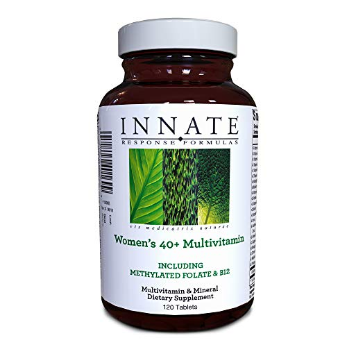 INNATE Response Formulas, Womens 40+ Multivitamin, Daily Vitamin, Non-GMO, 120 Tablets (60 Servings)