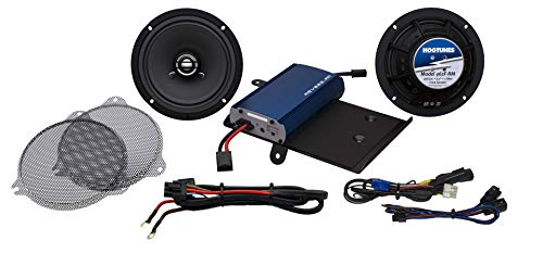 Hogtunes 225 Watt Amplifier with R.E.M.I.T. and 6.5' Front Speaker Kit with Grills for 2014+ Harley-Davidson FLH Touring Models (G4 SG Kit-RM G4 SG KIT-RM