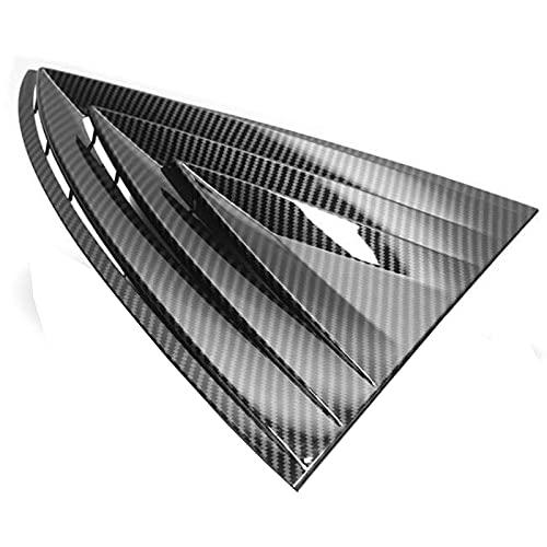 NMDNNJ Geeignet FüR Tesla Model 3, Dreieckige Fensterspiegeldekoration Hinten, Modell 3 Spezial, Modifikation, Modifikationspatch FüR Heckscheibe, Autoteile
