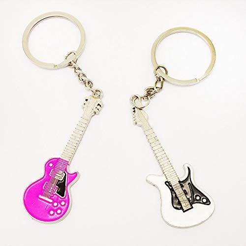 HUIQING Mode Gitarre PaarSchlüsselanhängerGeschenk Hochzeit Geschenk für LiebhaberSchlüsselanhängerGroßhandel2 Stück /