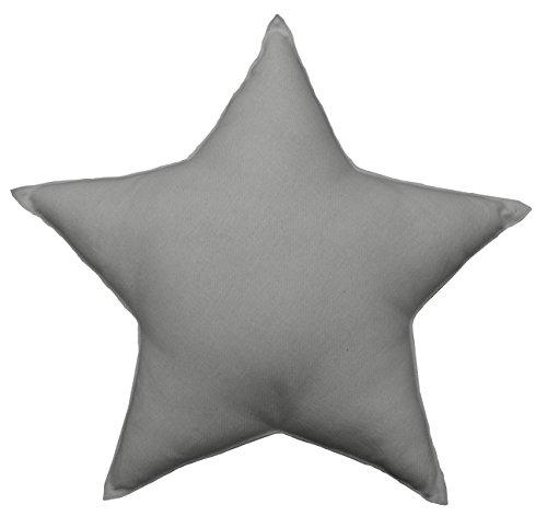 Enjoy Home STARGR040 Star Cushion, Cotton, 30 x 50 cm, Grey