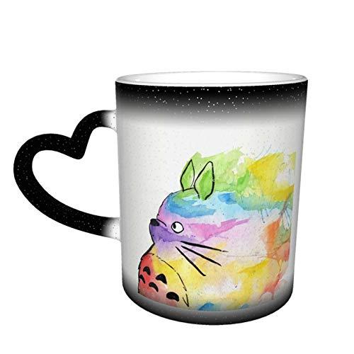 Magischer Kaffeebecher mit Farbwechsel, My Rainbow Totoro, personalisierter Druck aus Keramik, heiß, hitzeempfindliche Tasse für Familie, Liebhaber, Freunde, Geschenk