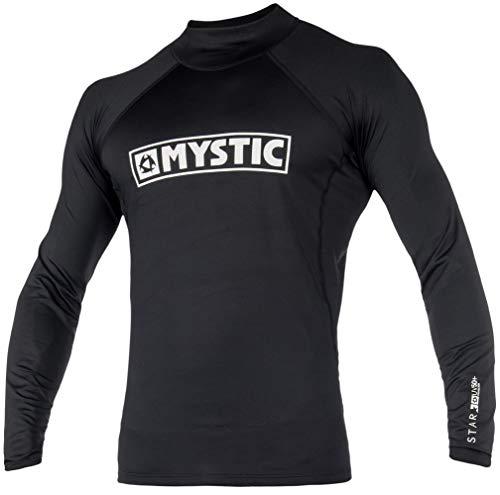 Mystic Wassersport - Surf Kitesurf & Windsurfen Stern LS Langarm Schnell Dry Leicht Rash Vest Top schwarz