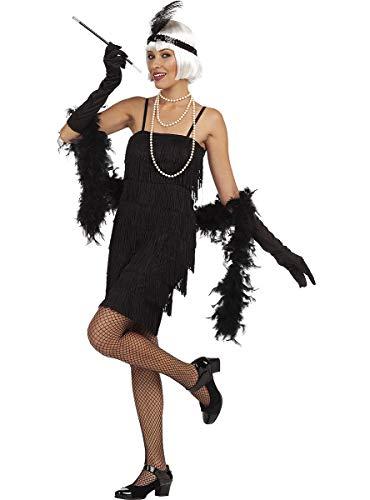 Funidelia   Disfraz de charlestón años 20 para Mujer Talla L ▶ Años 20, Cabaret, Gángster, Décadas - Color: Negro - Divertidos Disfraces y complementos