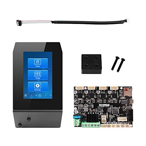 Creality Ender 3 4.3 inch HD Touch Screen with Ender 3 4.2.7 Silent Mainboard, Upgrade LCD Display Screen Controller Module with 4.2.7 Mute Motherboard for Ender-3/Ender-3 Pro 3D Printer