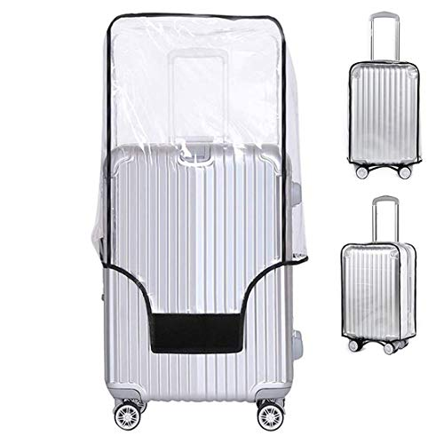 Yotako Clear PVC Suitcase Cover Protectors 20 24 28 30 Inch Luggage Cover for Wheeled Suitcase (24''(17.7''L x 10.6''W x 23.6''H))