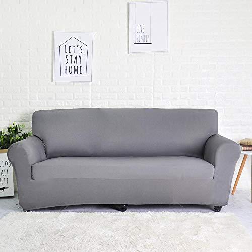 Funda de sofá de poliéster de Color sólido Funda de sofá Antideslizante de Alta Elasticidad Funda Protectora Universal para Silla de Muebles A10 2 plazas