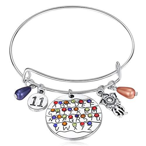 Stranger Things Gifts, Themed Bracelet ST Merchandise Alphabet Jewelry...