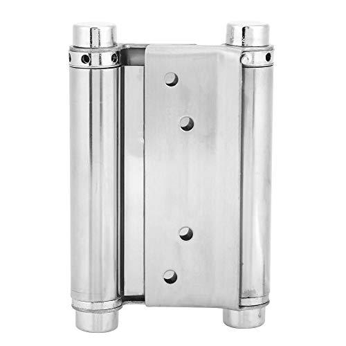 3/4/5inch Door Gate Hinge Stainless Steel Door Fittings Double Action Spring Hinges 2-Pack Including Pins Screws(5inch)