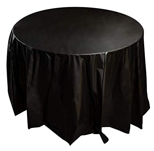 Juvale 12-pack ronde kunststof tafelkleed - ronde 84-inch wegwerp tafelklep, past tot 6 voet ronde tafels, effen kleuren, binnen outdoor partij benodigdheden