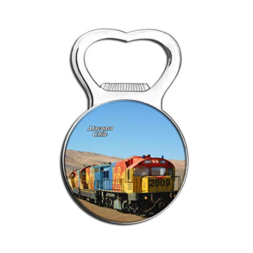 Weekino Train Saltpeter Antofagasta Désert d'Atacama Chili Aimant De Réfrigérateur Bière Ouvre-Bouteille Ville Voyage Souvenir Autocollant de réfrigérateur Fort
