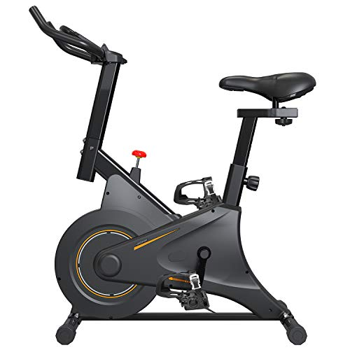 2021第三代スピンバイク マグネット式 フィットネスバイク ダイエット器具 フルカバーホイール エアロビク...