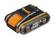 WORX WA3551.1 18V (20V MAX) 2.0Ah Battery Pack, 40 W, 20 V