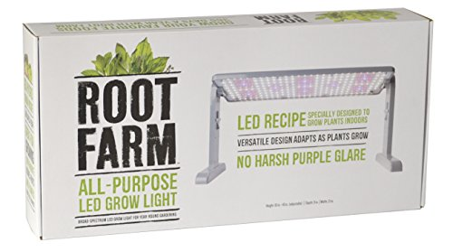 Root Farm All-Purpose LED Grow Light, 45W - Broad Spectrum Grow Lamp, For Indoor Hydroponic Plants, Energy Efficient