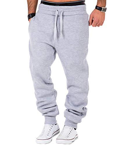 Frecoccialo Pantalones de chándal para hombre de algodón deportivo Slim Fit, pantalones...