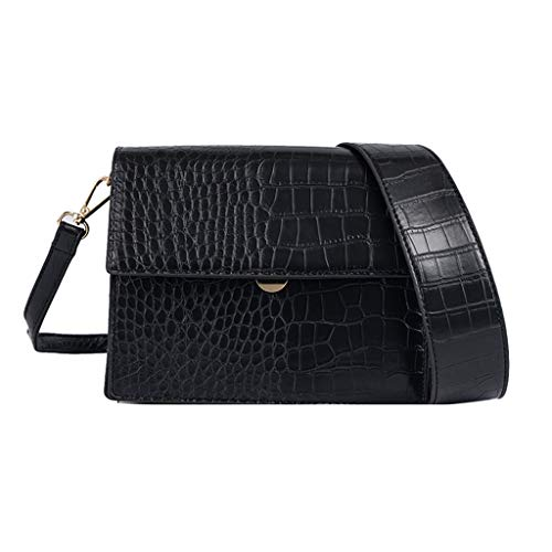 Buy Discount Leaf2you Womens Embossed Crocodile Alligator Pattern Shoulder Bag Leather Bags Crossbod...