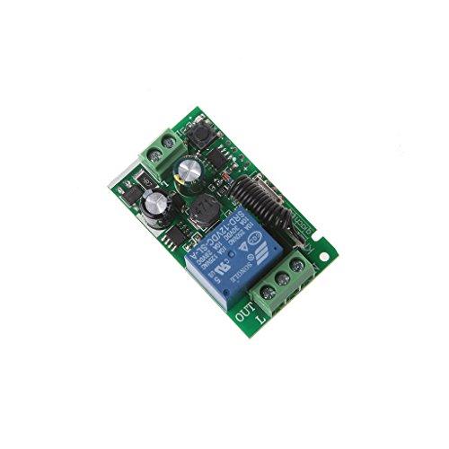 bibididi AC 220V 1Ch RF 433Mhz Módulo de Interruptor de Control Remoto inalámbrico relé de código de Aprendizaje, Pantalla de proyector con Control Remoto
