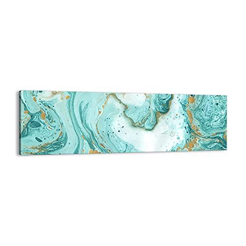 Cuadro sobre lienzo - Impresión de Imagen - Abstracción Azul Agua moderno - Imagen Impresión - Cuadros Decoracion - Impresión en lienzo - Cuadros Modernos - Lienzo Decorativo - (AC) 2937