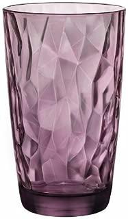 Bormioli Rocco Diamond Cooler Glasses, Rock Purple 16 oz  (Pack of 6)