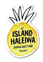 ハレイワハッピーマーケット ステッカー パイナップル ISLAND HHM015 おしゃれ ハワイ ノースショア グッズ