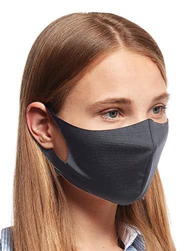 20 x Mundmasken für Freizeit Sport Training Mundschutz Staub Pollen Gesichtsmaske Fashion Maske Gesichtsschutz Sportmaske Face Masks waschbar P schwarz