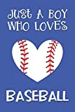 Just A Boy Who Loves Baseball: Baseball Gifts: Novelty Gag Notebook Gift: Lined Paper Paperback Journal Book