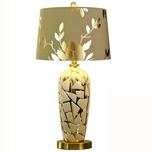 AJZGF Lámpara de Mesa de cerámica Lámpara de Porcelana - Lámpara de Mesa de cerámica Oriental Grande de Oro - Sala de Estar y Dormitorio Chinos Lámpara de Mesa Dormitorio (Size : 55 * 28)