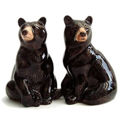 Quail Ceramics - Black Bear Salt and Pepper Pots from Quail Ceramics
