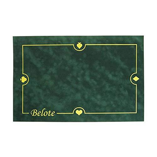 Tapis de Belote en suédine - Glisse Parfaite des Cartes - 60x40 cm