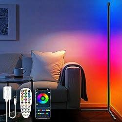 ※RGB Éclairages de plancher dimmables: Le Lampe sur Pied 60 pouces adopte un style minimaliste moderne, des températures de couleur variables en continu de 2700 à 6500K et ainsi que jusqu'à des millions de couleurs RVB. La plage de luminosité est de ...