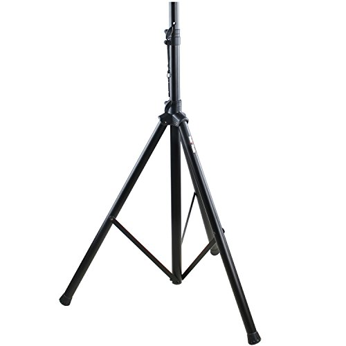 PA Speaker Stand by Hola! Music, Professional Tripod Structure, 4-6ft Adjustable Height, Model HPS-200S (Single)