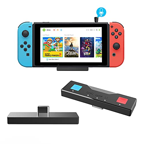 Bluetooth 5.0 Audio Transmitter Adapter with USB C and USB A Connector for Nintendo Switch & Lite TV Dock PS4 Slim Design Mic Included Dual APTX Low Latency for All Bluetooth Headphones Speakers