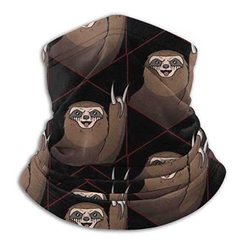 XXWKer Microfibre Chapeaux Tube Masque Visage Tour de Cou Cagoule, Metal Sloth Funny Winter Hats Fleece Neck Warmer Face Neck Scarf
