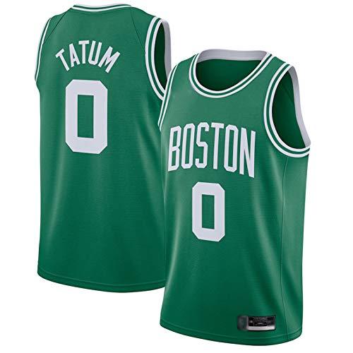 DFGHU Camiseta de baloncesto para hombre con diseño de jugador celta Tatum repetible de limpieza #0, color verde, verde, XXL