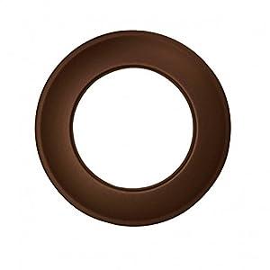 Kamino – Flam – Rosetón para tubo de chimenea (Ø 120 mm), Rosetón anillo para tubos de estufa, Rosetón conector para sistema de chimeneas, estufas, ventilaciones – acero resitente y durable – marrón