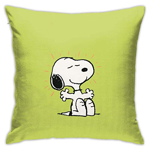 Happy cat diy shop Green Throw Pillow Covers 18'X 18'Inch Square Shape Decorative Cushion Cover for Couch Sofa Pillow Set