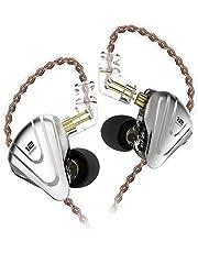 KZ ZSX Hifi In Ear hörlurar Hybrid 5 balanserade Armaturer och 1 dynamiska drivrutiners hörlurar, KZ hörlurar hög fidelity med avtagbar 2-polig kabel (ingen mikrofon, svart)