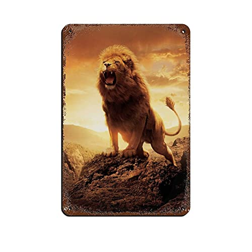 Klassisches Filmposter The Chronicles of Narnia, The Lion, The Witch And The Wardrobe 1 Blechschild Vintage Metal Pub Club Cafe Bar Home Wandkunst Dekoration Poster Retro 20 x 30 cm