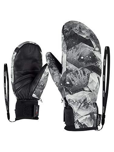 Ziener Damen KOMILLA AS(R) AW MITTEN lady glove Ski-handschuhe, grey mountain print, 7 (S)