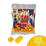 Simba Steine-104114122 Blox, 50 Gelbe Bausteine Fabricado en Italia, 16 x 8 y 34 x 4, Compatible con Las Piedras de Juego conocidas Color Amarillo. (104114122)