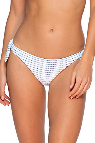 Swim Systems Women's Poppy Tie Side Bikini Bottom Swimsuit, Maritime Stripe, Large
